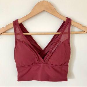 aerie | Swim Suit Bikini Top Crossed Back V Neck